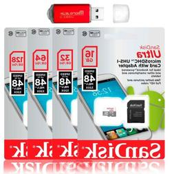 SanDisk 128GB 64GB Ultra Micro SD Class 10 TF Flash SDXC Mem
