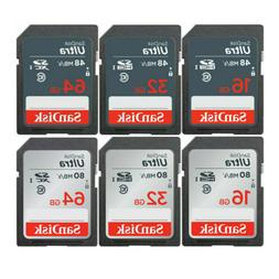 Sandisk SD Card 16GB 32GB 64GB 128GB ULTRA SDHC Camera Flash
