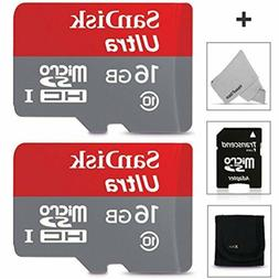SanDisk 16GB Micro SD Memory Card - 2 PACK  for Asus ZenFone