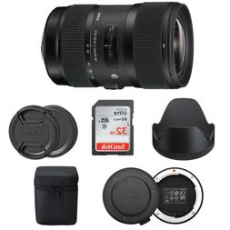 Sigma 18-35mm F1.8 Art DC HSM Lens for Canon Cameras w/ USB