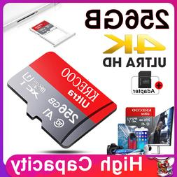 256GB Micro Memory SD Card 275MB/S Class10 Flash TF Card wit