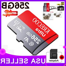 256GB Micro Memory SD Card 4K Class10 Flash TF Card with Ada
