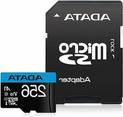 ADATA 256GB MicroSD Class 10 V10 A1 Memory Card with Adapter