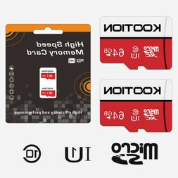 2Pack 64GB TF Card SDXC Micro SD Class 10 Memory Card UHS-I