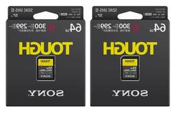 2Pcs / 64GB / SD Card SONY UHS-II Tough G-Series / SF-G64T 1