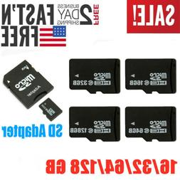 32GB 64GB 128GB Micro SD TF Memory Card w/ Adapter For Camer