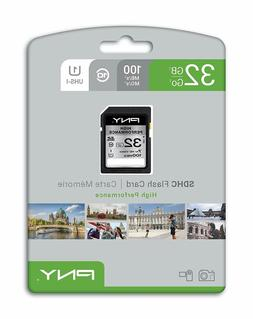 PNY 32GB SD Card Class10 100MB/s Memory Card Quick transfer