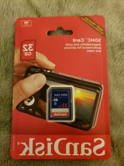SanDisk 32GB SD Card Class 4 SDHC-I HD Video