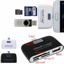3in1 OTG USB 3.1 Type C to USB TF Micro SD Card Reader Adapt