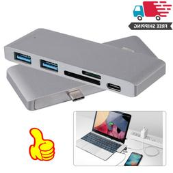 USB 3.0 Hub USB Adapter Type C 5 in 1 Card Reader for Macboo