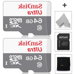 SanDisk 64GB Micro SD Memory Card - 2 PACK  for Asus ZenFone