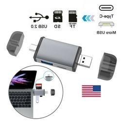 6in1 Type C 3.1 Micro to USB OTG HUB Adapter SD/TF Card Read
