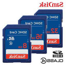 SanDisk 8G 16G 32GB Class 4 SDHC Flash Memory SD Card For Di