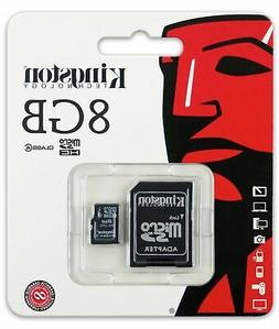 Kingston 8Gb Micro Sd Sdhc Class 4 Flash Memory Card With Ad