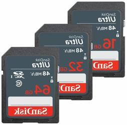 SanDisk ULTRA SDHC 16GB 32GB 64GB Class 10 Flash Memory Came