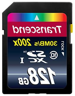 Transcend 128GB SDXC Class 10 Flash Memory Card Up to 30MB/s