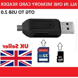 All in 1 USB Memory Card Reader Micro USB OTG to USB Adapter