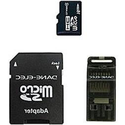 Dane 16GB MicroSD Memory Card With Adapter - Black  Dane-Ele
