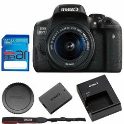 Canon EOS Rebel 750D / T6i Digital SLR with EF-S 18-55mm is