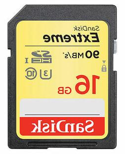 SanDisk Extreme 16GB SD  SDHC Memory Card 90MB/sec  Class 10