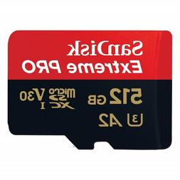 SANDISK EXTREME PRO A2 U3 V30 MICRO SD 170MB/s Read 512 GB F