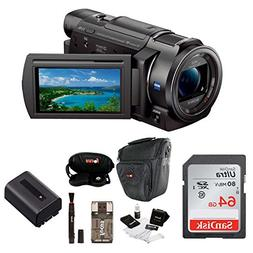 Sony FDR-AX33 4K Camcorder with 64GB SD Card and Accessory B