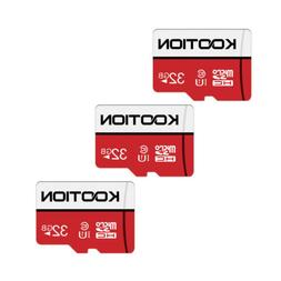 Kootion High Speed Memory Card 3 Pack 32GB Micro SDHC Class