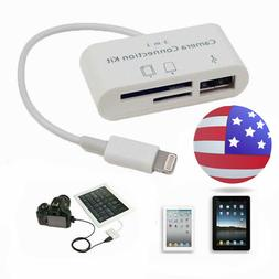 Iphone 3 in1 USB Micro SD Card Reader Camera DSLR Link Adapt