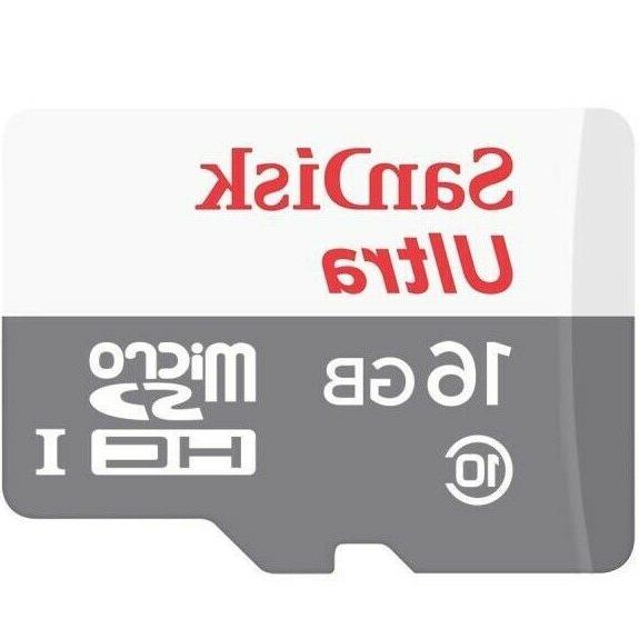 Sandisk 16GB 128GB Micro SD Class 10 Flash SDHC Memory Adapter