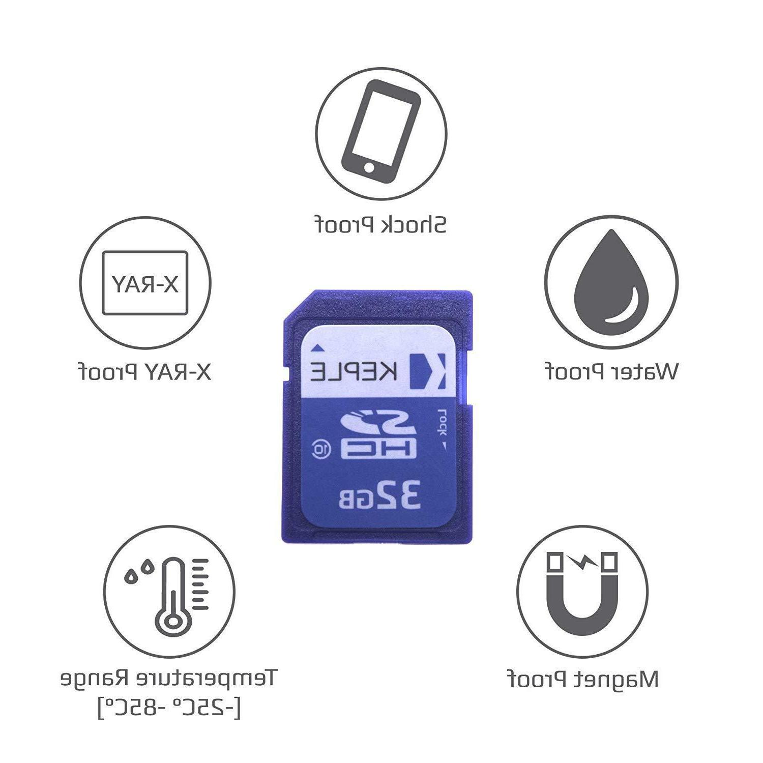 Keple 32GB SD Card | For Cameras Class HD &