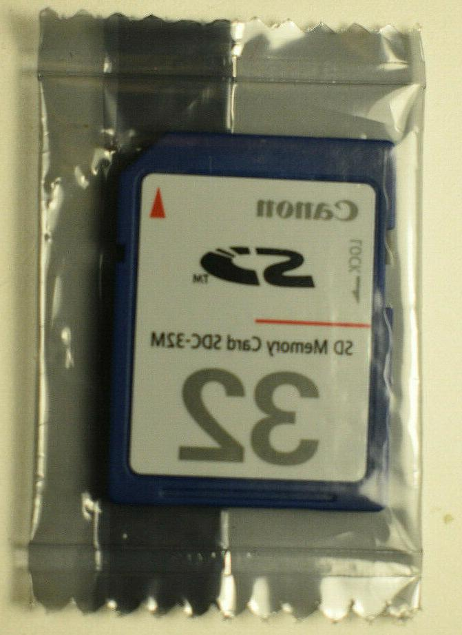 CANON 32MB Card SDC-32M Japan NEW Sealed + Case