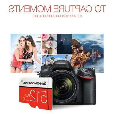For Phone Cameras 512GB SDHC SD-Card Flash-Memory High Speed
