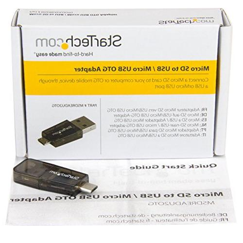 StarTech.com Micro to Micro USB / OTG Card Reader For