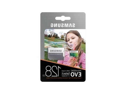 microsdxc uhs i card evo select
