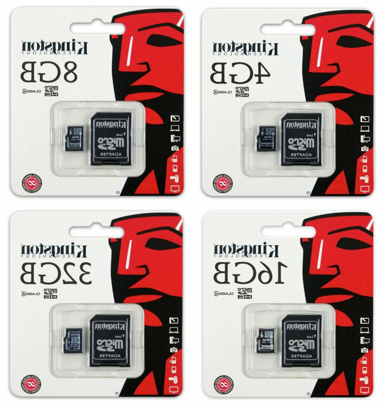 32Mbps // Class 4 Professional Kingston 16GB MicroSDHC BlackBerry London with custom formatting and Standard SD Adapter!