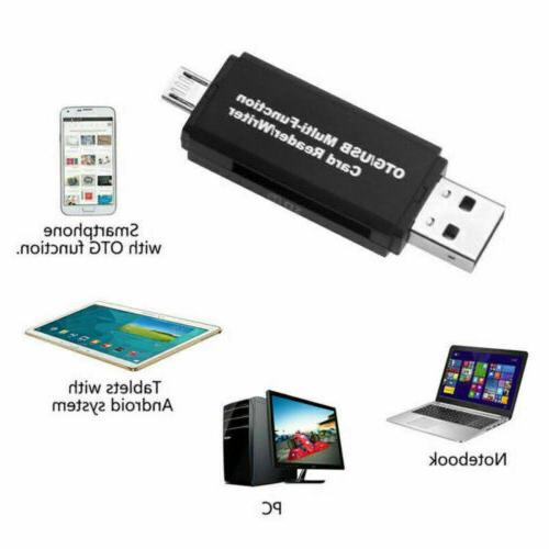 Micro OTG to SD Card Reader standard USB Male~