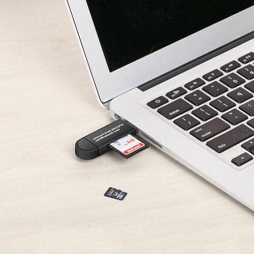 Micro to USB 2.0 Adapter Card Reader For Phone Tablet PC