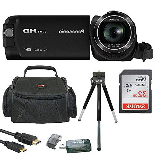 Panasonic HC-W580K Full HD 1080p Camcorder w/Twin Camera & 3