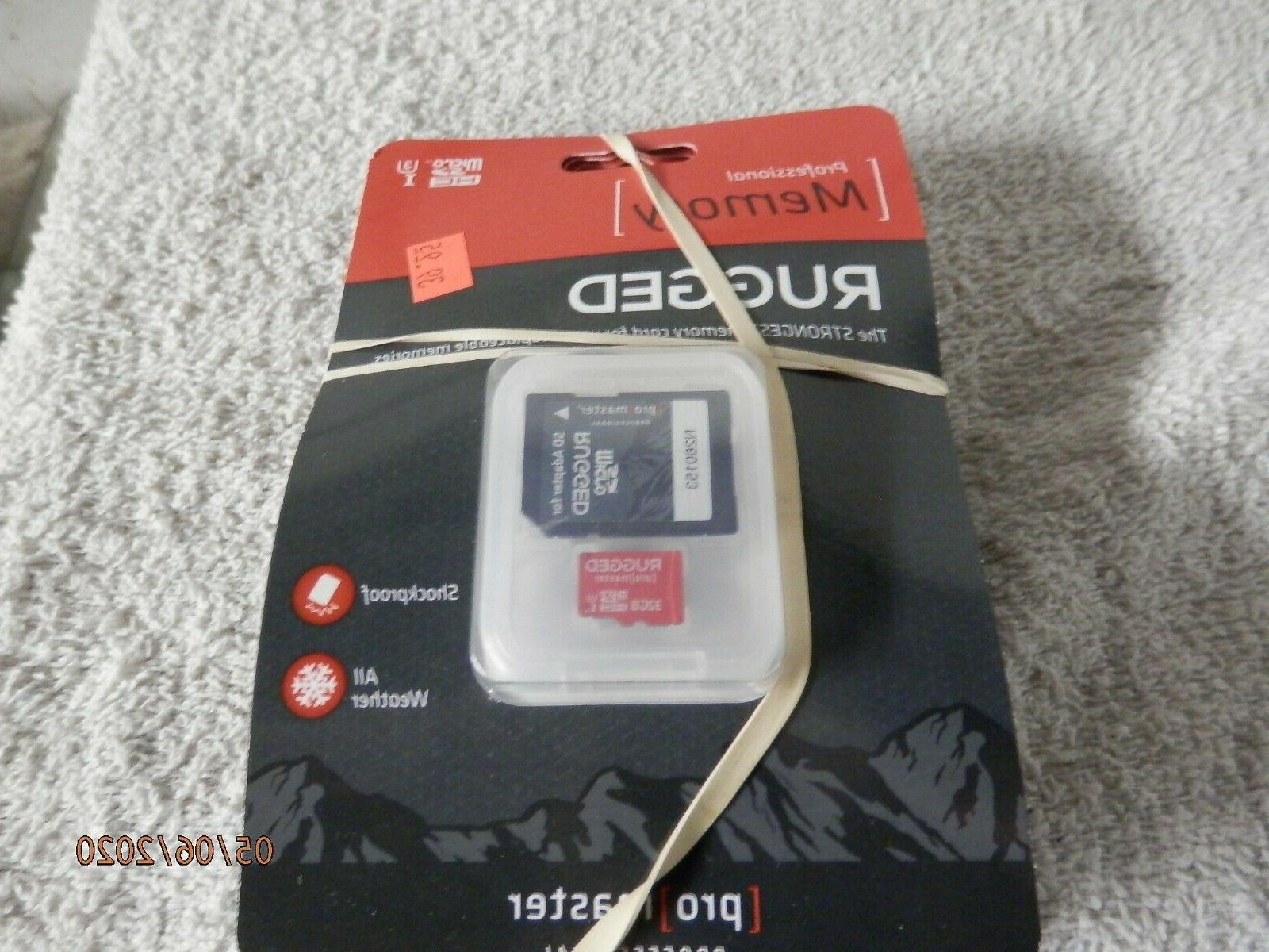 rugged 32gb micro sd card with case