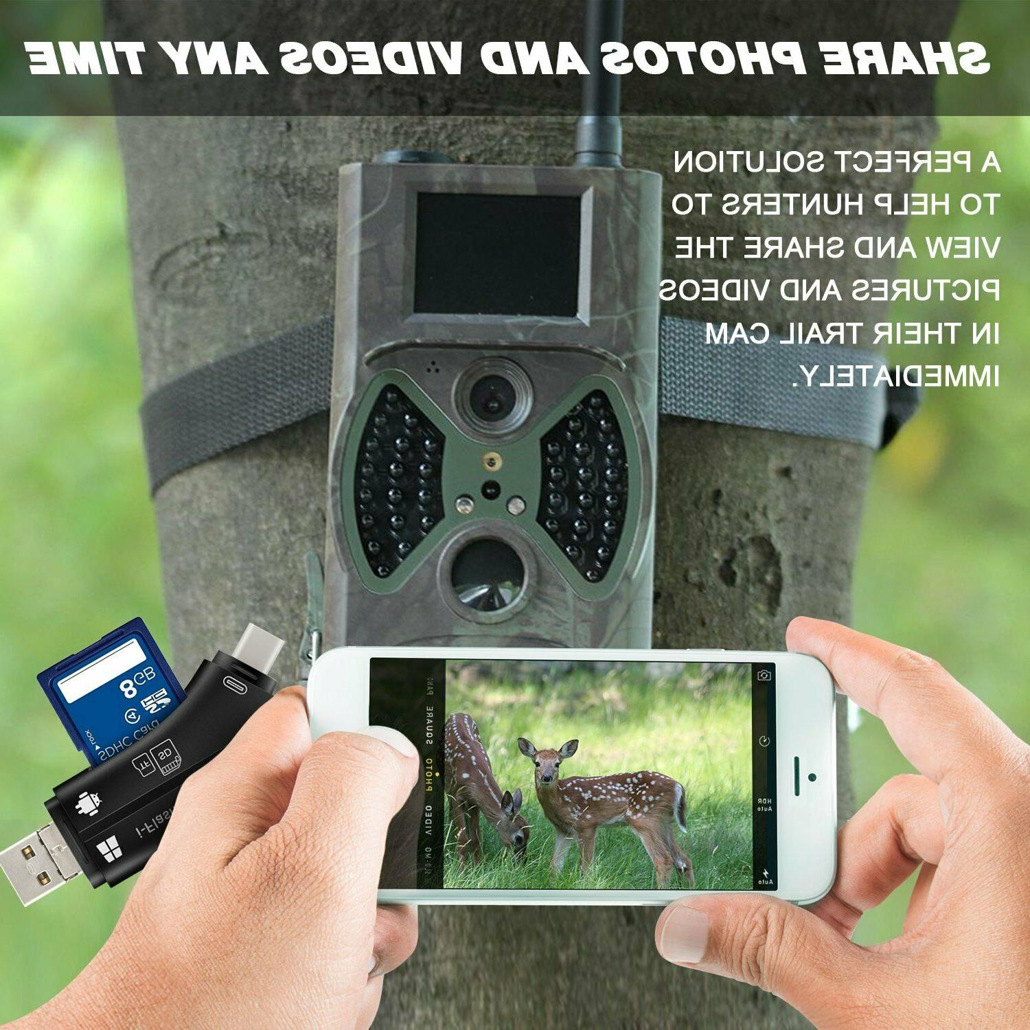 SD Card Reader For Iphone Trail Camera Viewer Hunting Video