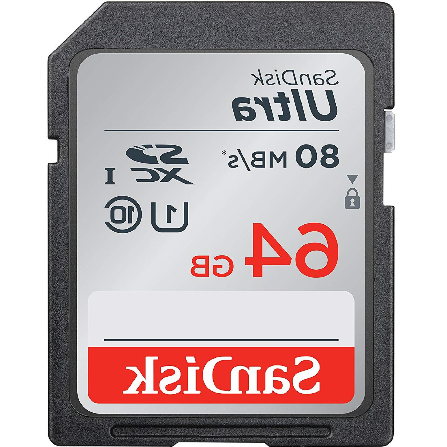 SanDisk SD Class Memory Card Up To Camera Full
