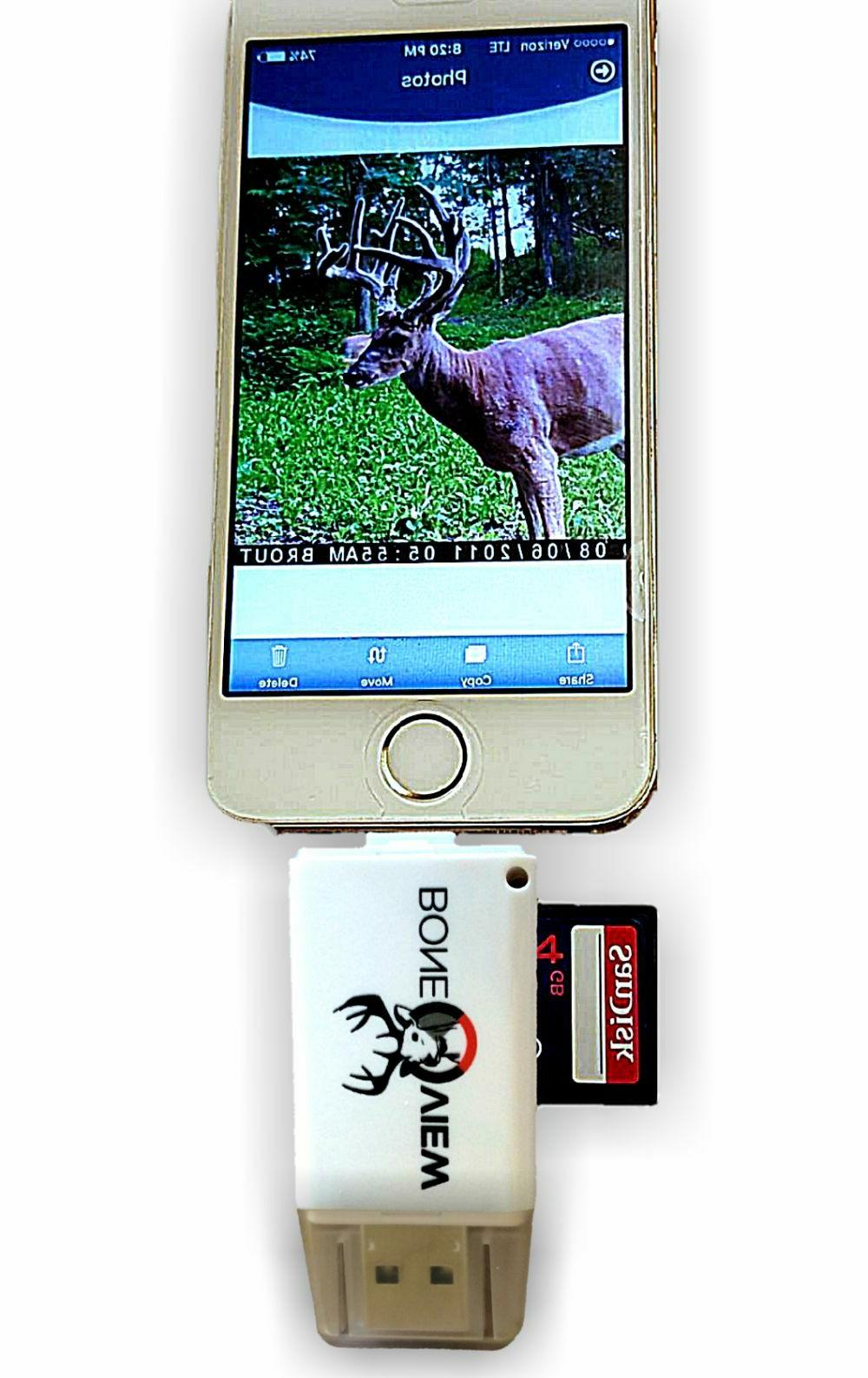 BoneView Trail Camera Viewer for Apple devices SD Card Reade