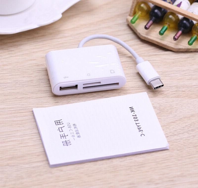 Type C OTG Adapter SD TF Card Reader USB Camera Connection K