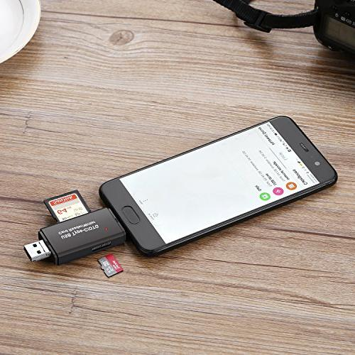 Vanja Reader, Micro USB OTG and Portable Memory Card Reader SDXC, SDHC, SD, RS-MMC, Micro SDXC, SD, Card and Cards