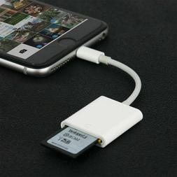 Lightning to SD Card Adapter Camera Reader For Apple iPhone