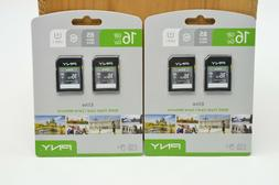 Lot of 2 PNY 16GB 2-Pack Elite Performance Class 10 SD Card