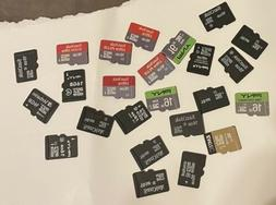 Lot of 24 Mixed 16GB Micro SD SDHC Memory Cards Sandisk PNY