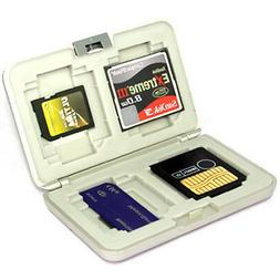 MC5 MEMORY CARDS CF SD xD MS SM HARD CASE HOLDER/SILVER FOR