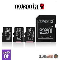Kingston Micro SD Memory Card 16GB 32GB 64GB 128GB TF Class