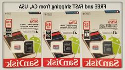 SanDisk Micro SD Card 32GB 64GB 128GB TF Class 10 Android Ni